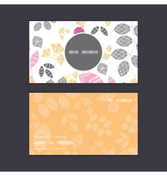 Abstract pink yellow and gray leaves vertical vector