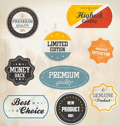 Retro styled labels vector