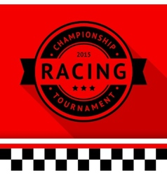 Racing stamp-15 vector