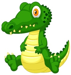 Cute crocodile cartoon vector