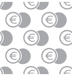 New euro coin seamless pattern vector