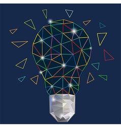 Digital light bulb colorful vector