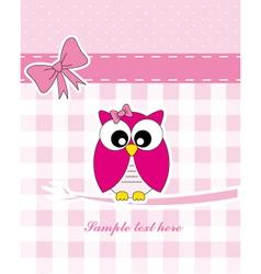 Pink owl vector