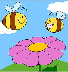 Chubby baby bee vector