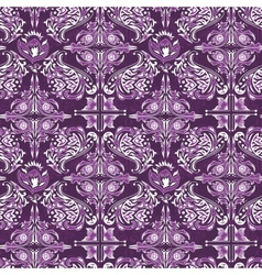 White on purple damask pattern vector