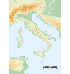 Italy physical vector
