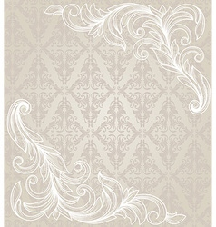 Ornate element in victorian style for design vector