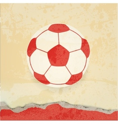Soccer design retro poster vector