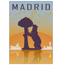 Madrid vintage poster vector