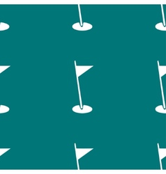 Golf flag web icon flat design seamless pattern vector