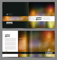 Template booklet abstract design cover and inside vector
