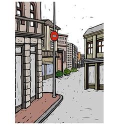 Town street scene vector