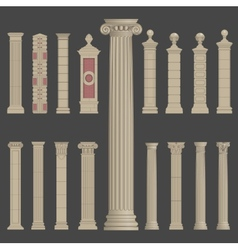 Pillar column roman greek architecture vector