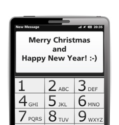 Merry christmas sms vector