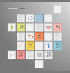 Info graphic squares elements template vector