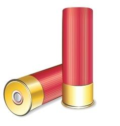 Shotgun shell on white background vector