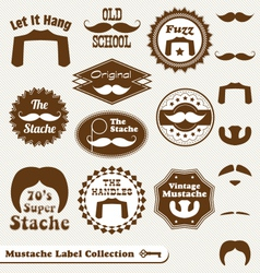 Mustache labels vector