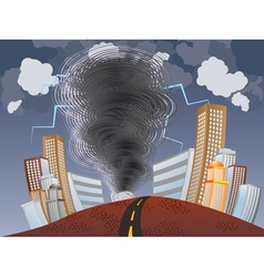 Powerful tornado vector
