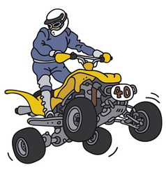Racer on the atv vector