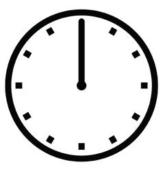 Clock 12 vector