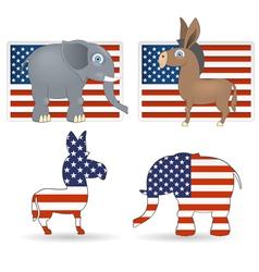 Democrat and republican symbols vector