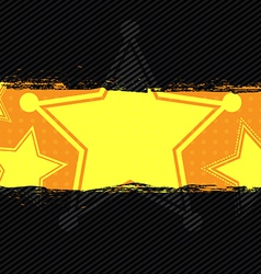 Star grunge banner design vector