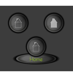 Buttons with houses vector