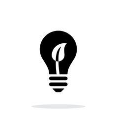 Eco light bulb icon on white background vector