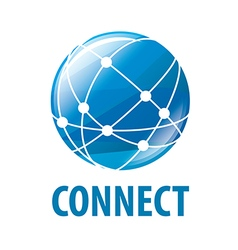 Logo global network worldwide vector
