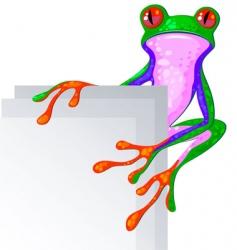 Bright frog vector