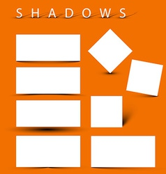 Set of evctor shadow effects vector