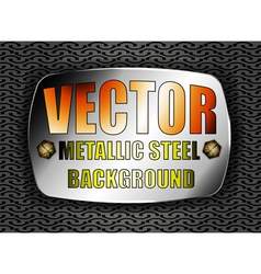 Metallic steel vector