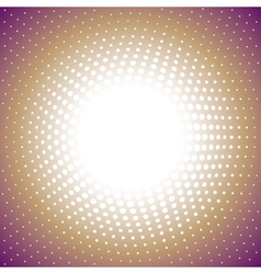 Color radial halftone background vector