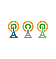 Radio towers in ireland vector