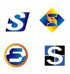 Alphabet symbols and elements of letter s such a vector