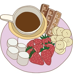 Chocolate fondue vector