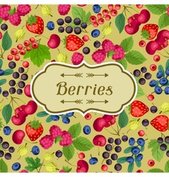 Nature background design with berries vector
