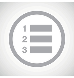 Grey numbered list sign icon vector