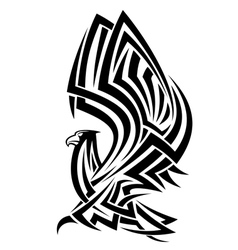 Powerful eagle in tribal style vector