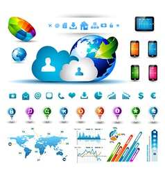 Infographic elements for cloud computing vector