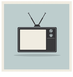 Retro background crt tv set vintage vector
