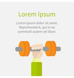 Hand holding dumbell fitness healthy lifestyle vector