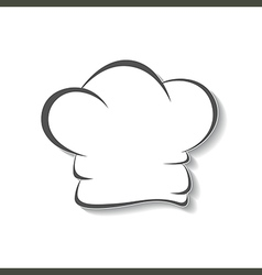 Chefs hat icon isolated vector