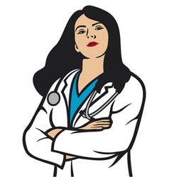 Woman doctor vector