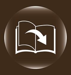 Ebook icon vector