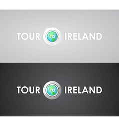 Tour to ireland vector