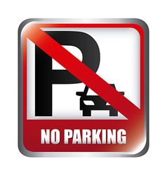 No parking design vector