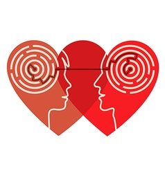 Psychology of love vector