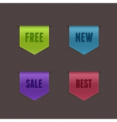 Set of 4 quality ribbons vector