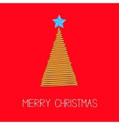 Fir christmas tree with star scribble christmas vector